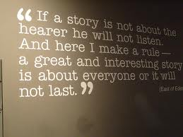"""If a story is not about the hearer…"