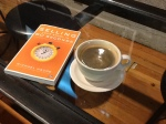 Coffee cup and Pitching book