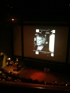 Penelope Buitenhuis presented with award at VWIFF 2012