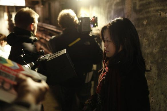 Director Karen Lam on the set of Evangeline. Photo courtesy of Opiate Pictures