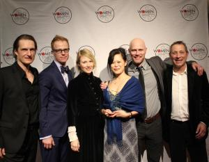 Lam and her team of The Meeting accepting the Finalé Award for Best Short at VIWIFF 2014