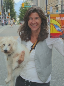 Dianne Whelan with her 18-year old Jack Russell, Lily, on Granville Street. August 22, 2014. Photo by Katja De Bock