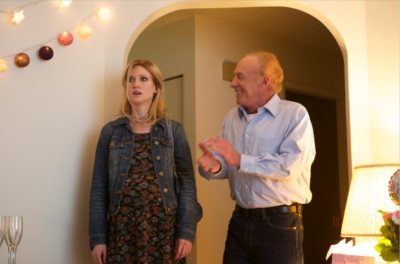 Sonja Bennett and James Caan in Preggoland
