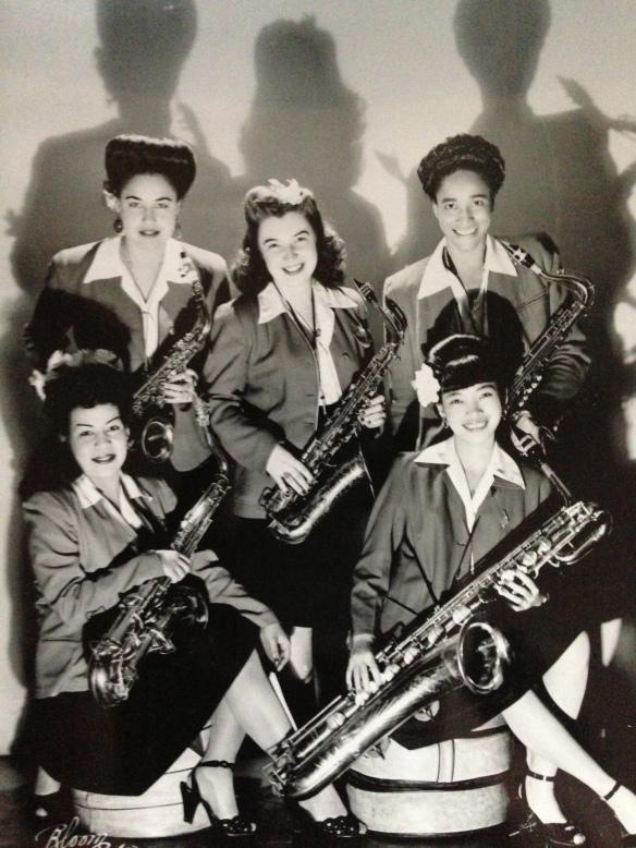 International Sweethearts of Rhythm Sax Section