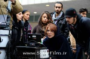 Director Mahshid Afsharzadeh on the set of A 5-Star. Source: Facebook
