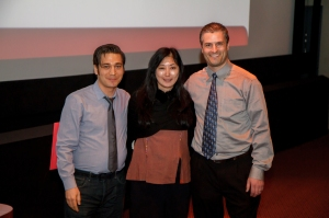 Anne Misawa and the sponsors of SIM Digital, Mike Ogawa and Ken Anderson (right)