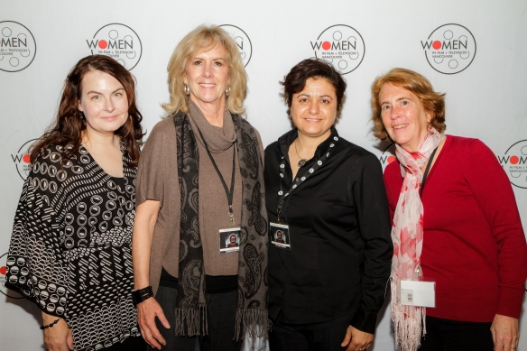 Danishka Esterhazy, Sheri Davenport, WIFTV board member Michelle Muldoon and Marjory Kaptanoglu