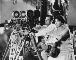 Lois Weber with megaphone (seated behind DP)