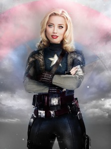 Amber Heard as Captain America