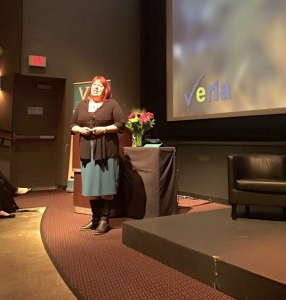 Annelise Larson presents at the 2015 VIFF Industry Conference. Photo: Facebook