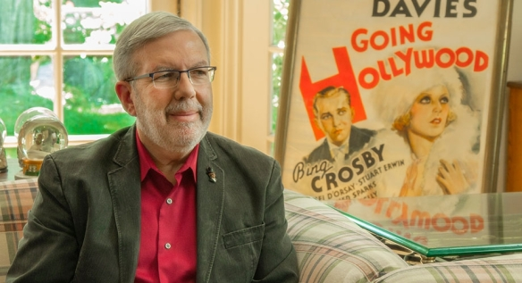 Film Critic, Leonard Maltin, at his home in Los Angeles, California, during the filming of Fanarchy