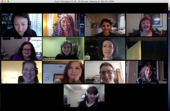 A snapshot of participants of our Dec. 17 online session on zoom!
